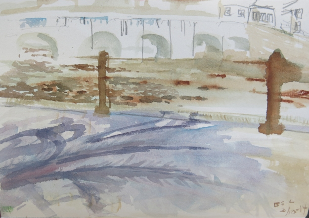 Hun påsto hun ikke kunne tegne og male. For en vakker tolkning av broen