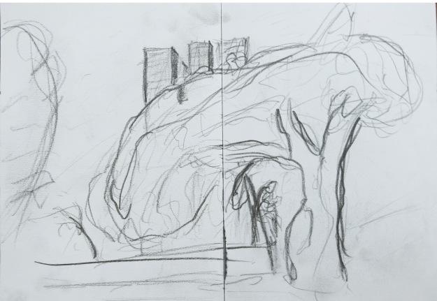 Som en Munchs skisse av et tre?