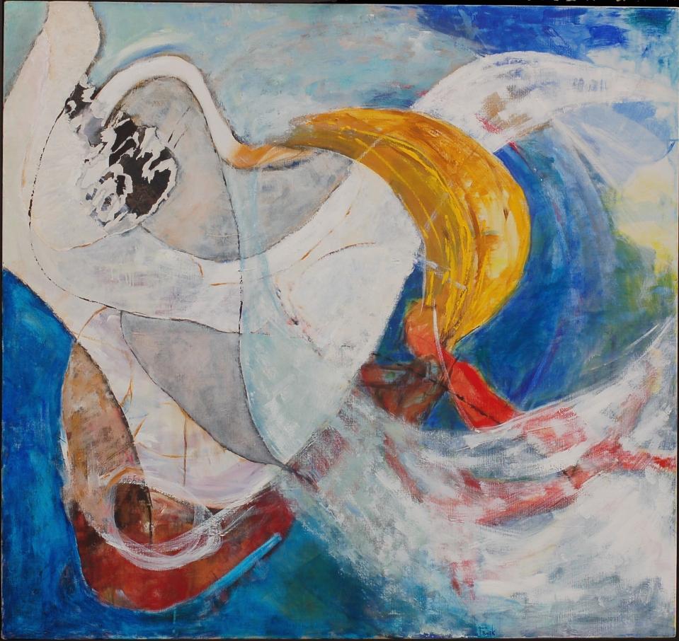 Tine Busk Tegne- og malekurs i utlandet Portugal, billedkunst abstrakt lys strand åpen